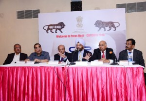 (From Left to Right): R. P Kalyanpur, Executive Director, Plastics Export Promotion Council, M F Vohra, Pradip Thakkar, Chairman, Plexconcil, B. S. Bhalla, Joint Secretary, Department of Commerce, Ministry of Commerce and Industry, B. R. Gaikwad, S. G Bharadi