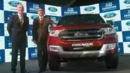 Nigel Harris, MD and President of Ford India with Anurag Mehrotra, Executive Director for marketing, sales and Service of Ford India during launch the new Ford Endeavour in Mumbai