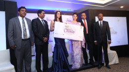 Photo caption (from left to right): Mr. Udeni Perera – Western India Manager, SriLankan Airlines, Mr. S. P. Mohan – Manager, Tamil Nadu & Karnataka for SriLankan Airlines, Aditi Arya – FBB Femina Miss India World 2015, Jacqueline Fernandez - Leading Bollywood Actor, Mr. Rohan Karr – Sector Head for Cinnamon's city hotels, Mr. Dileep Mudadeniya – Vice President, Brand Marketing for Cinnamon Hotels & Resorts