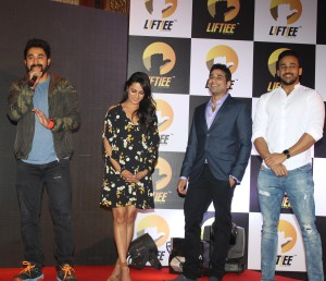 L-R : Rannvijay Singh, Anita Hassanandani, Co Founder of Liftiee Ritvik Mathur and Rohit Reddy