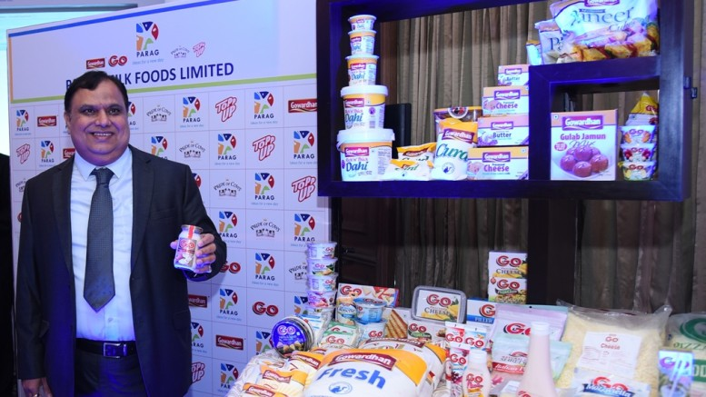 Mr. Devendra Shah (Executive Chairman, Parag Milk Foods Limited) at the press IPO conference of Parag Milk Foods Limited