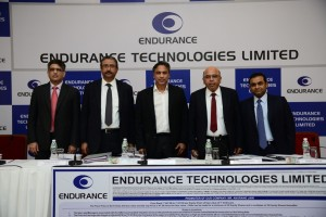 Left To Right Gaurang Mehta, Axis Capital Limited, Satrajit Ray, Director And Group CFO, Endurance Technologies Limited, Anurang Jain ,Managing Director, Endurance Technologies Limited, Ramesh Gehaney, Director And COO, Endurance Technologies Limited ,Rahul Saraf, Citigroup Global Markets India Private Limited