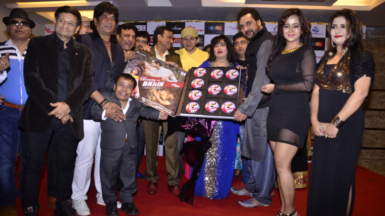 "Entire Crew and Star Cast of Film ""BEAUTY WITH BRAIN"" (""शातिर हसीना"") at the Music Release Launch-Photo by GPN Network"