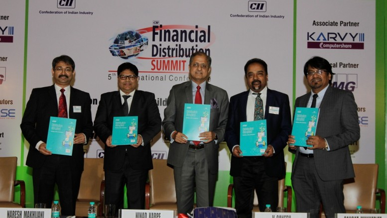 CII KPMG Report released on Financial Distributions Sector !!  Release of the CII – KPMG Report: 'Distribution Disrupted: Building a Zillion Distributors'   In Photo :  ·        Ninad Karpe,Dy Chairman, CII Western Region and MD&CEO Aptech   ·        Dr Saugat Mukherjee, CII Regional Director    ·        V Ganesh,Chairman CEO, Karvy Computershare and Chairman CII Financial Distribution Summit    ·        Naresh Makhijani, Partner and Head - Financial Services, KPMG in India-Photo by GPN Network