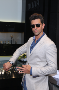 Brand ambassador Hrithik Roshan unveils new featherweight collection at the newly opened Rado boutique in Noida-Photo By GPN NETWORK