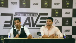 Mohammed Shahid - CEO and President -KHK - Brave Combat Federation Aditya PS - CEO and Vice President, KHK India - Brave Combat Federation announce the comprehensive investment plan and mode of operation of KHK - Brave Combat Federation in India, in Mumbai - photo by GPN Network.
