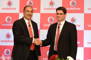 Sunil Sood MD and CEO Vodafone-India with Thomas Riesten CFO Vodafone-India-Photo by GPN Network