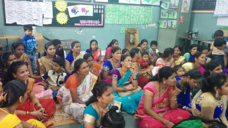 MUMBAI (GPN) : Women residing in the slums of Pant Nagar and  Ramabai Nagar in Ghatkopar receiving knowledge from Cox & Kings Foundation & Ojus Medical Trust-Photo By Sachin Murdeshwar GPN NETWORK.