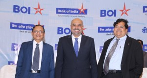 (L-R): Mr. Shanker Iyer (General Manager & CFO); Mr. Melwyn Rego (Managing Director & CEO) and Mr. R. A. Sankara Naryanan (Executive Director) at the press conference of the announcement of the bank's Q3 FY17 results.- Photo By Sachin Murdeshwar GPN NETWORK.
