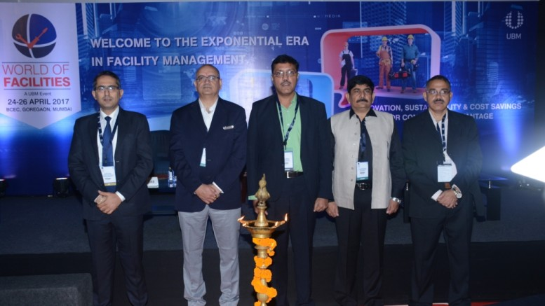 (L to R):  Mr. Sandeep Sethi – Managing Director – West Asia , Integrated facilities Management – JLL India  Mr. Dharminder Salwan – Director Black Rock APAC & Board Member INFHRA  Mr.Yogesh Mudras – MD, UBM India  Capt. Rajesh Sharma - Vice President - Office Services, APAC & MEA  Mr. Abhijit Mukherjee – Group Director, UBM India - Photo By Sachin Murdeshwar GPN NETWORK