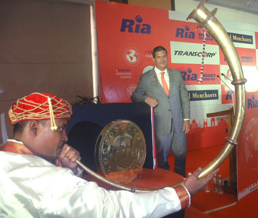 Juan C Bianchi, President and CEO of Ria MoneyTransfer during announcement the Expands Indian Network by partnering with three leading agents in Mumbai - Photo By GPN
