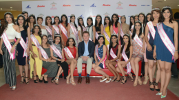 Thomas Archer Bata, Global CMO and fourth generation of the founder family visited Bata Store in Viviana Mall, Thane (W), along with 30 state winners of fbb Colors Femina Miss India 2017 to share their style tips and trends with young customers, in Tahne – Photo by Sachin Murdeshwar GPN NETWORK.