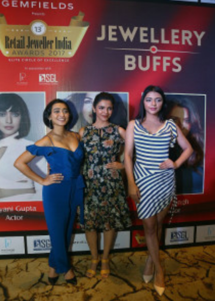 L-R – Sayani Gupta, Shriya Pilgaonkar, Ruhi Singh at the Jury Meet of The 13th Annual Gemfields Retail Jeweller India Awards 2017 in Mumbazi – Photo By Sachin Murdeshwar GPN NETWORK