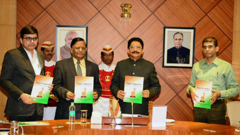 State Election Commission; releases EC booklet on 'Major Initiatives'- Photo By GPN NERWORK