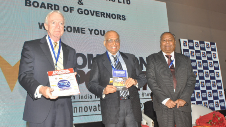 Seen left to right mr. Richard timoney Chairman of fieldcomm group, Mr. B. Narayan and Mr. B.R. Mehta Chairmen – Board of Governors.-Photo By Sachin Murdeshwar GPN NETWORK