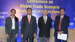 L-R: Ms Alpa Antani, Director & Head- International Division, CII Western Region; Dr Anish Shah, Chairman, CII WR Sub-Committee on International Trade and Investment & Group President – Strategy, Mahindra Group; David Rasquinha, Managing Director, Export-Import Bank of India; Dr V Rangaraj, Member, CII WR Sub-Committee on International Trade and Investment - Photo By Sachin Murdeshwar GPN NETWORK