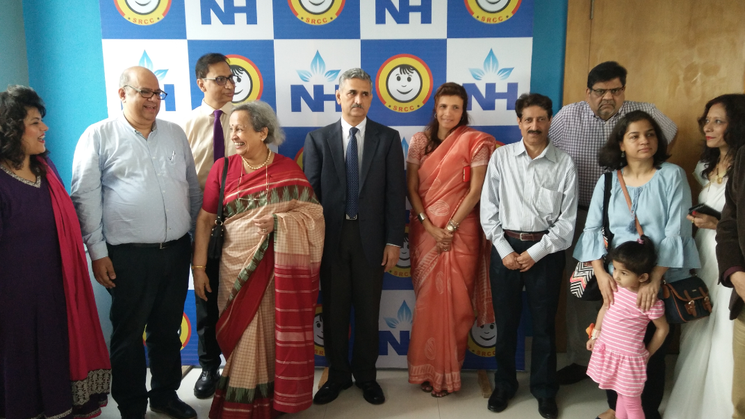 In Center Commissioner of Police Mumbai, Shri Dattatray Padsalgikar, was the Chief Guest at the Rett Syndrome Awareness Seminar, arranged at the Narayana Health SRCC Children's Hospital on 15 Oct'2017 . Along with Shri Padsalgikar is Smt Anita Garware and Dr Anaita Hegde, Consultant Pediatric Nurology, NHSRCC Children's Hosiptal, were also present in the inaugural ceremony of the seminar. Over 30 children suffering from Rett Syndrome,150 parents and specialist doctors participated in this awareness seminar. Doctors and parents had a interactive discussion on the medical care and well-being of children affected by Rett Syndrome. The 10th National Rett Syndrome Awarness Symposium was organized by Narayana Health SRCC Children's Hospital in association with Indian Rett Syndrome Foundation.-By Sachin Murdeshwar GPN NETWORK