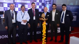 (Left – Right)  ·         Mr. Santosh Warrik, CFO & Advisor, MIDC, Government of Maharashtra ·         Shri. Sudhakar Prabhu Rathod, Director, Directorate Industrial Safety & Health, The Department of Labour, Government of Maharashtra ·         Mr. Yogesh Mudras, Managing Director, UBM India ·         Mr. Jason Woods, Middle East Representative, International Powered Access Federation (IPAF)            ·         Mr. Prashant Jain, Asst. Project Director, UBM India Pvt Ltd ·         Mr. Pankaj Jain, Group Director, UBM India Pvt Ltd. - Photo By Sachin Murdeshwar GPN / 23.11.17