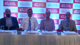 (from left to right):  Mr. Rakesh Wadhwa, Chief Marketing Officer Future Generali India Life Insurance, Mr. Munish Sharda, CEO and MD, Future Generali India Life Insurance, Mr. Yashish Dhaiya, Founder and CEO, Policy Bazaar – India's largest Online distributor of Insurance and Dr. Sandeep Goyle, Consultant Medical Oncologist at Kokilaben Dhirubhai Ambani Hospital - Photo By Sachin Murdeshwar GPN NETWORK