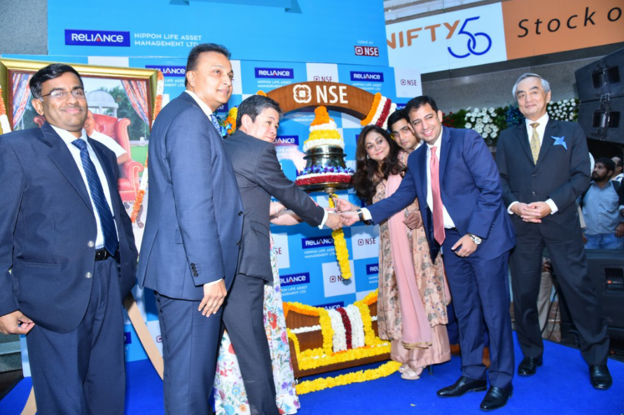 India S First Mf Listing Ceremony Of Reliance Nippon Life Amc Held Today With 81 5 Times Subscription Global Prime News