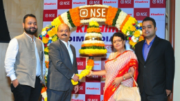 Mr. Siddhartha Roy Burman, Chairman and Managing Director, Khadim India Limited with his Family at the listing ceremony in NSE, Mumbai - Photo By Sachin Murdeshwar GPN NETWORK