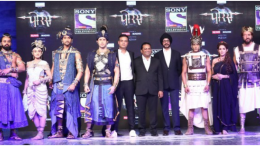 Team of PORUS with Siddharth Kumar Tewary Founder Chief Creative Swastik Productions Danish Khan EVP Business Head NP Singh CEO SPN.- Photo By Sachin Murdeshwar GPN NEWS