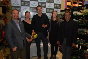 In Pic Sumit Saran, India Representative of USA Pears, Jeff Correa, International Marketing Director, Pear Bureau North West and Linsey Kennedy Pear Bureau North West.- By Global Prime News