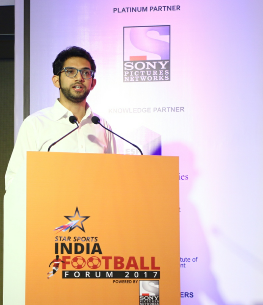Aaditya Thackeray, President, Mumbai District Football Association at the Star Sports India Football Forum 2017 at St Regis in Mumbai today – Photo By Sachin Murdeshwar GPN (Global Prime News)