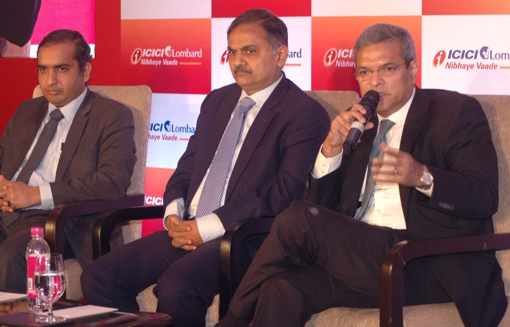 Mumbai : Bhargav Dasgupta, MD & CEO of ICICI Lombard General Insurance (R) address on Readiness of India Inc. with respect to Risk Management research in Mumbai on Friday. Photo By Sachin Murdeshwar GPN/19.01.2018