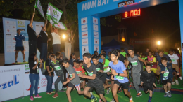 Children take off during the Future Olympians Run during the Mumbai 10K INTENCITY Run at the Bandra Fort on Sunday morning in Mumbai (GPN)