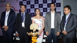 (Left – Right) : Mr. Rajesh Vohra, Managing Director, CHICCO; Mr. Yogesh Mudras, Managing Director, UBM India Pvt. Ltd.; Ms. Esha Deol, Award Winning Bollywood Actress; Mr. Bharat Takhtani, Entrepreneur; Mr. Ajay Agarwal – President Toy Association of India.