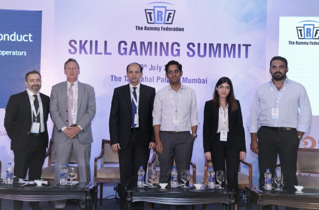 FROM  (L to R)  Moderator: Mr. Vaibhav Kakkar, Partner at Luthra & Luthra 1. Mr. George Rover, Former Deputy Director New Jersey Division of Gaming Enforcement and Founder of Prinston Global Strategies 2. Mr. Anil Talreja, Partner at Deloitte 3. Mr. Trivikraman Thampy, Founder and CEO, Play Games24x7 4. Ms. Ishita Pateria, Counselling Psychologist and Member of British Psychological Society 5. Mr. Deepak Gullapalli, Founder and CEO, Head Infotech - PHOTO BY GPN (Sachin Murdeshwar)