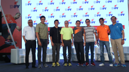 (L to R) - Kishore Biyani, Anil Kumble, Farhan Akhtar, Prashant Desai - Co-Founder & Director, Kan DFY Sports Pvt., Rajiv Mehta - Co-Founder & Director, Kan DFY Sports Pvt, Ritesh Sidhwani, Mr. Mayank Shivam, Director – Fashion Director, Amazon India & Mr Shamir Saraiya, Co-Founder, Kan DFY Sports Pvt. Ltd.