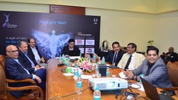 Members of the jury overseeing the presentation by nominated pharma firms at the second and final jury selection round at the India Pharma Awards