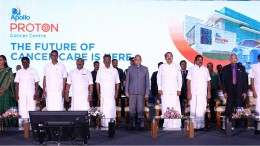 The Apollo Proton Cancer Centre inaugurated in Chennai, Tamil Nadu, India by the Hon'ble Vice President of India, Shri. Venkaiah Naidu, Hon'ble Chief Minister of Tamil Nadu, Shri. Edappadi K.Palaniswami, Deputy Chief Minister of Tamil Nadu, Shri. O.Paneerselvam, along with Dr. Prathap C Reddy, Chairman, Apollo Hospitals Group and Ms. Suneeta Reddy, Managing Director, Apollo Hospitals Group.