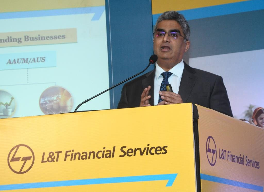 Mr. Dinanath Dubhashi, MD & CEO, L&T Financial Services at the NCD Issue press conference held in Mumbai.- Photo By Sachin Murdeshwar / GPN
