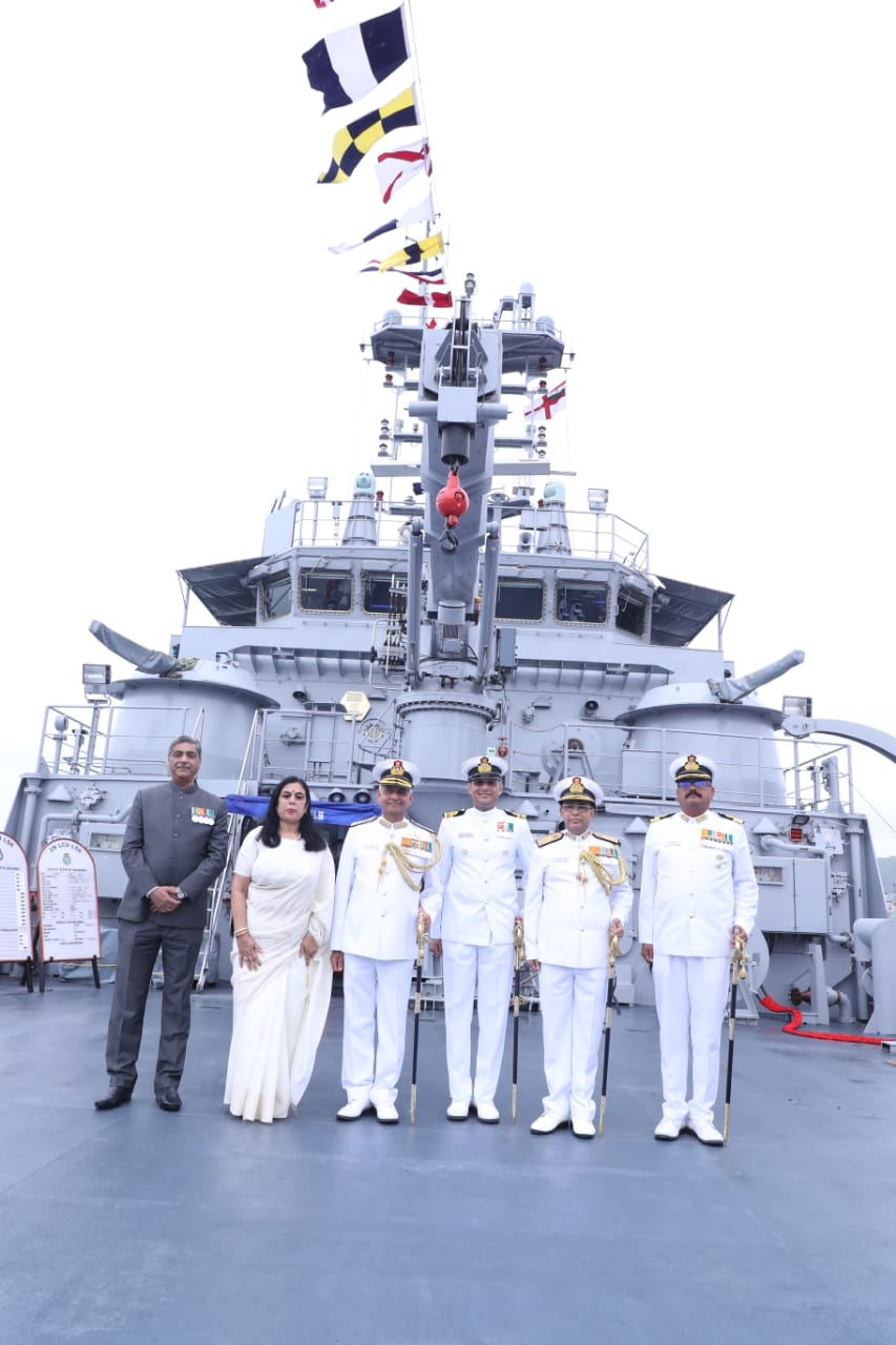 GRSE built 100th Warship IN LCU L-56 Commissioned today at Visakhapatnam