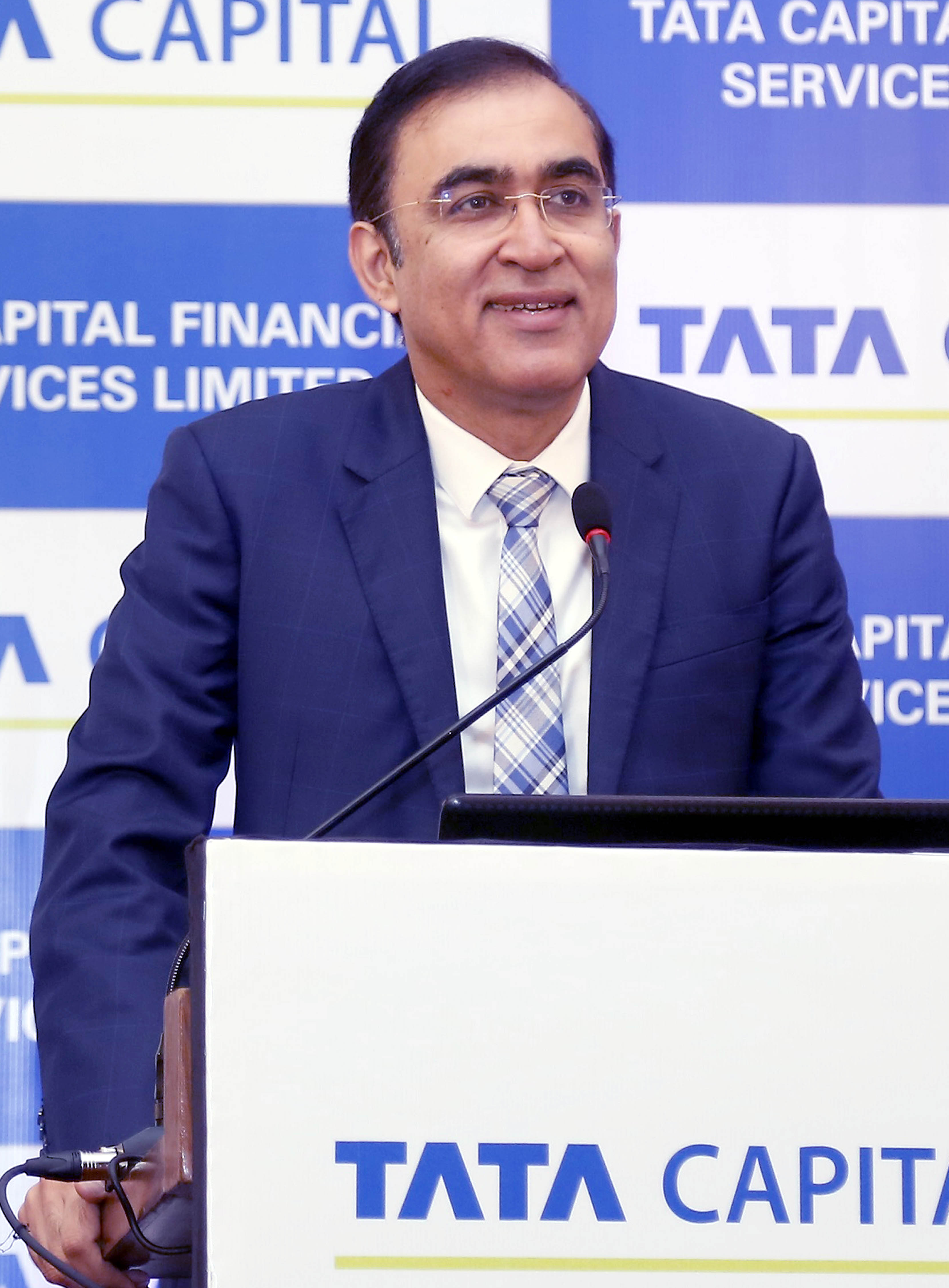 Rajiv Sabharwal (Managing Director & CEO, Tata Capital Ltd.) at the announcement of Tata Capital Financial Services Limited NCD issue.