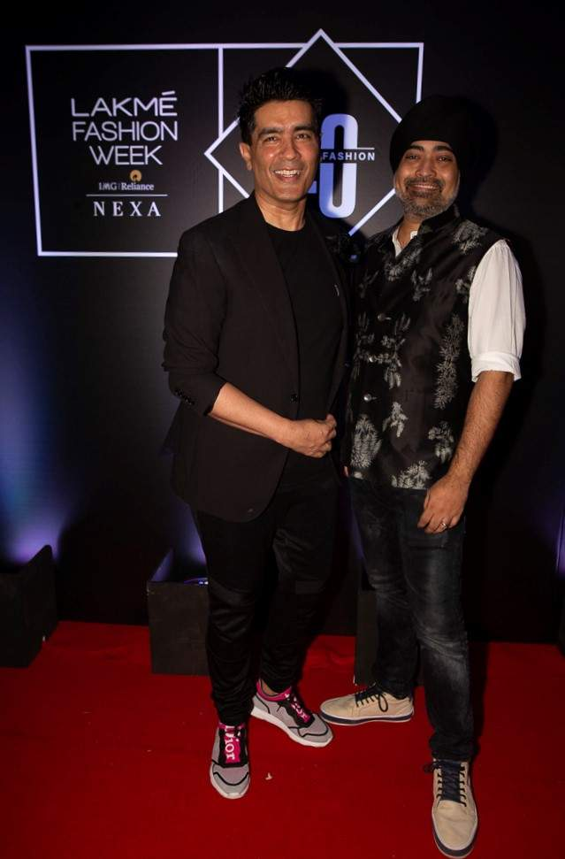 Jaspreet Chandok, Vice President and Head of Fashion at IMG Reliance with Fashion Designer Manish Malhotra - GPN FILE PIC