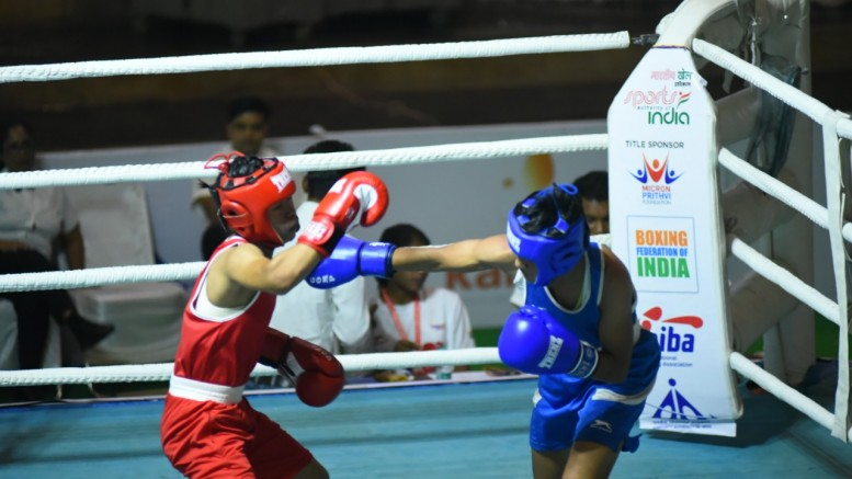Action from Junior Women's Boxing Nationals