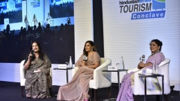 On the Panel Ms. Richa Chadha, Bollywood Actress (In Center) - Photo By Sachin Murdeshwar GPN